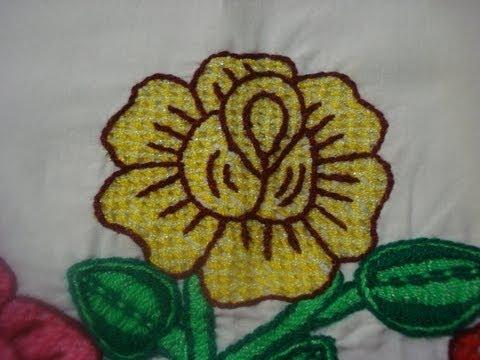 Bordado Fantasía Rosa Amarilla