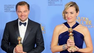 Kate Winslet and Leonardo DiCaprio's Golden Globes Reunion Was Too Cute