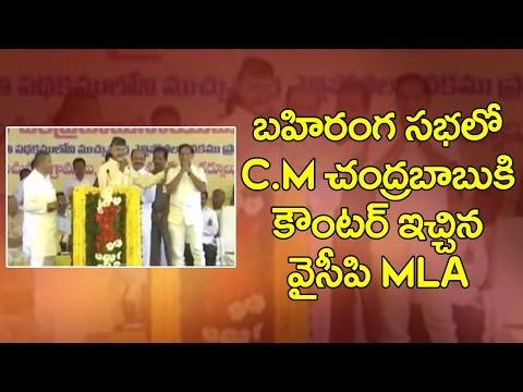 YSRCP MLA Counter Chandrababu Naidu in Public Meeting