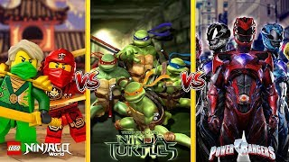 Minecraft LEGO NINJAGO VS TEENAGE MUTANT NINJA TURTLES VS POWER RANGERS - WHO WILL WIN THE BATTLE??