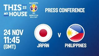 Japan v Philippines - Press Conference - FIBA Basketball World Cup 2019 - Asian Qualifiers