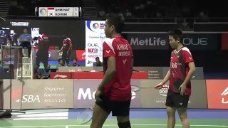 OUE Singapore Open 2016 | Badminton SF M2-XD | Ahm/Nat vs Ko/Kim