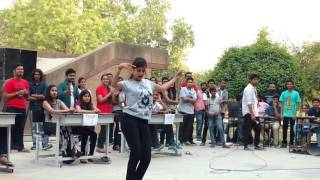 College girl dancing