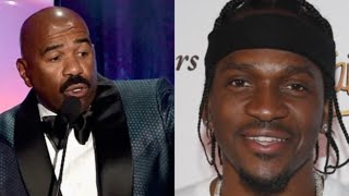 """Steve Harvey Wants SMOKE With Pusha T Over The Story Of Adidon Freestyle!""""Who is This BOY""""?!"""
