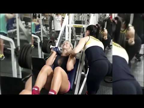 Funny Girls workout fails at gym   Try not to laugh - NEW Best fails ever