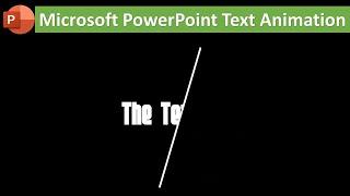 Text Animation With Line | Microsoft PowerPoint 2016 Tutorial | The Teacher