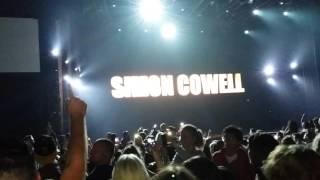 X Factor judges entering Wembley Arena