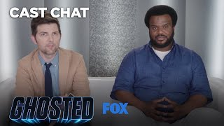 Adam Scott & Craig Robinson Take Fans Calls From The Bureau Underground Hotline | Season 1 | GHOSTED