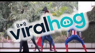 Superheros with Killer Dance Moves    ViralHog
