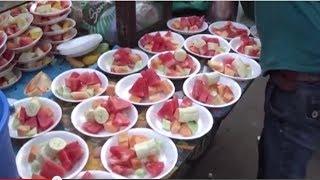 Street Foods Of India | Fruit Salads - Amazing Skills Of Non- Stop Salad Making, Kolkata, WB, India