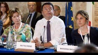 Matteo Renzi e l'inglese. Figura di merda epocale. Politica idiota 8 luglio 2014.