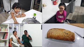 Baking Whole Wheat Bread at Night - YUMMY TUMMY TAMIL VLOG