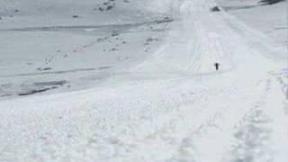 Mountain biking 210km/h on snow