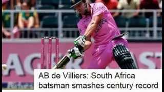 AB de Villiers score 149 of 44 balls vs West Indies (18th Jan 2015)