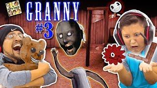 GRANNY HAS NO HEAD, SHE BROKE MY CHAIR & HAS NEW SECRETS! (FGTEEV ESCAPE GRANNY #3) GURKEY!