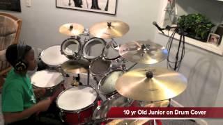 Yahweh (Sonnie Badu) - 10 yr Old Junior on Drum Cover