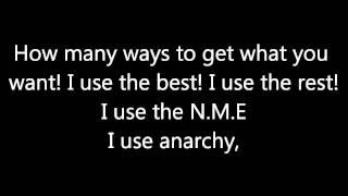 Sex Pistols - Anarchy in the U.K. (Lyrics)