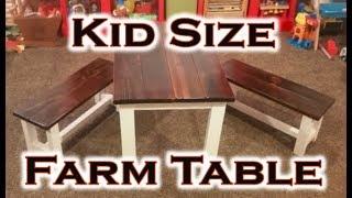 Kids Farm Table Rough Cut Pallet Project