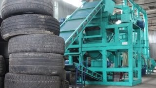 Tire Recycling Equipment - Crumb Rubber - Waste Tire Recycling Plant - Tyre Recycling Machine