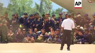 Thai Navy SEALs leave Chiang Rai following cave rescue