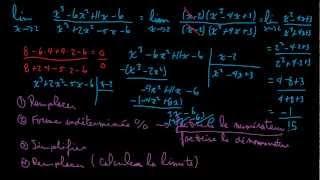 Limite en un point - Forme indéterminée 0 sur 0 - Fonction rationnelle