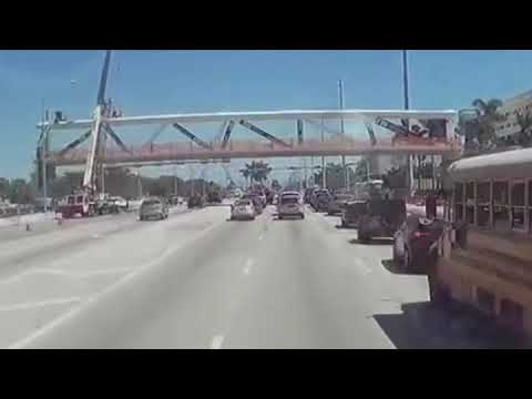 FIU Bridge Collapse Caught on Dash Cam
