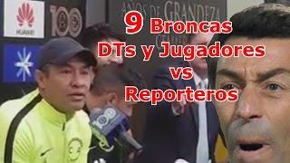 9 Broncas de Entrenadores y Jugadores con Reporteros