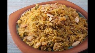 ارز بالجزر وقطع الدجاج على طريقة الشيف فاطمة فؤاد ولا أروع