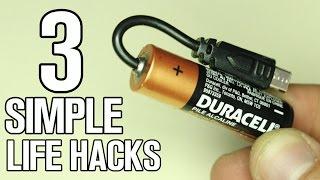 3 incredible simple Life Hacks