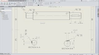 SOLIDWORKS 2018 - DRIVE SHAFT - DRAWING