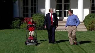 Va. Boy Mows White House Lawn