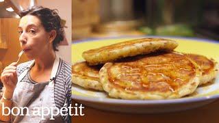 How to Make Deceptively Healthy Pancakes | Bin It To Win It | Bon Appetit