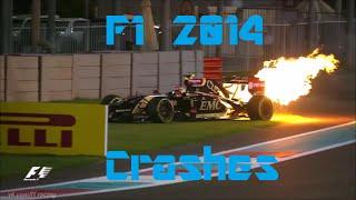 F1 2014 Crashes (R.I.P Jules Bianchi)