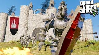 GTA 5 CASTLE DEFENCE! Epic Medieval Warfare (GTA 5 Mods)
