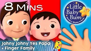 Johny Johny Yes Papa + Finger Family Collection  | Nursery Rhymes and Kids songs | By LittleBabyBum!
