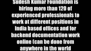 NGO Jobs / CSR Projects Role in Sudesh Kumar Foundation - http://ngo-jobs.ozg.in