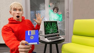 FOUND MYSTERY NEIGHBOR TOP SECRET MEMORY CHIP in COMPUTER ESCAPE ROOM!!