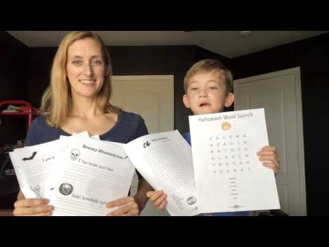 We made FREE Halloween Printable Handwriting pages and Word Search Puzzles