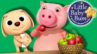 The Pig Eats An Apple | Nursery Rhymes | By LittleBabyBum!