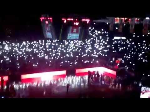 Galatasaray vs CSK Moskow Euroleague Only Love You, Işık Gösterisi ve Maç Önü(14.2.2014)