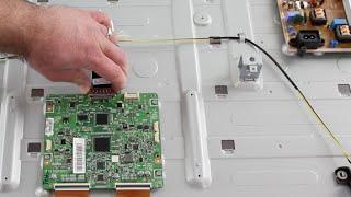 Samsung LED TV Repair - T-Con Board Replacement - No Picture on Screen, Image Fades to Black UN60