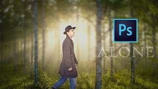 Photoshop Manipulation Tutorial : A - Alone Man Walking in Forest   Manipulation Editing🔥  