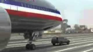 طائرة تهبط على سيارة في الشارع العام !!!