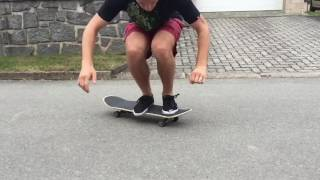Double Kickflip, Kick back flip [Slow motion]