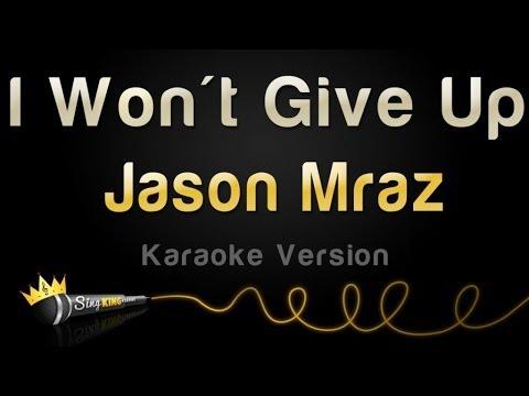 Jason Mraz - I Won't Give Up (Karaoke Version)