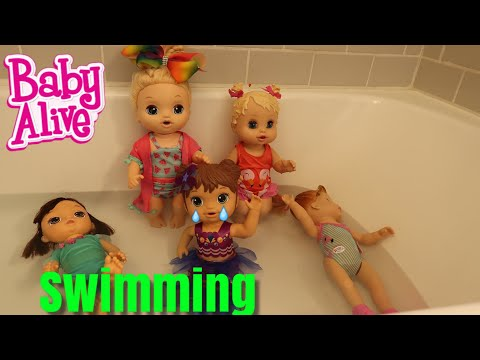 BABY ALIVE Swimming With Mermaid Pool Party baby alive videos