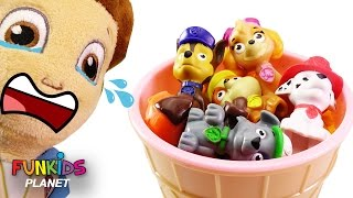 Best Learn Colors Videos For Children: Paw Patrol Ice Cream Cups Surprise Eggs Preschool Skye