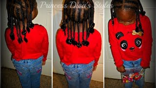 Very Easy Quick 30 Min | Preschool/Toddler | Braid Style W/ Beads