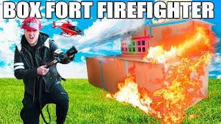 BOX FORT FIRE FIGHTERS ROLEPLAY!! 📦🔥 Box Fort Fire Station, REAL FIRES, Fire Patrol & MORE!