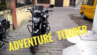 Yamaha Fz Modified || Yamaha Fz Adventure Tourer || How To Modify A  Motorcycle To Adventure Tourer.